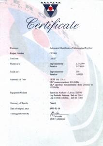 sendit certificate